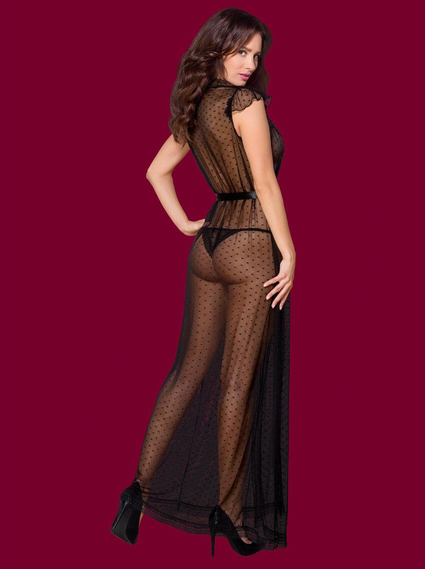 Obsessive peignoir thong lingerie