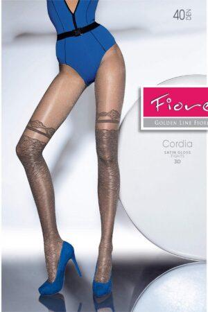 Cordia FiORE hold ups imitation tights satin gloss