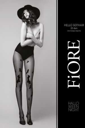 Hello Gotham FiORE patterned tights