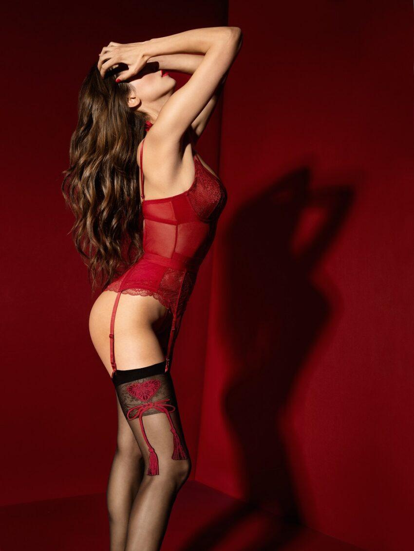 FiORE Segreta stocking red patterns