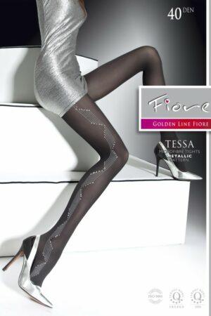 Tessa FiORE metallic pattern tights