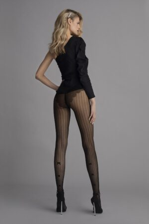 Fiore Adriana Vintage Barred Pattern Tights
