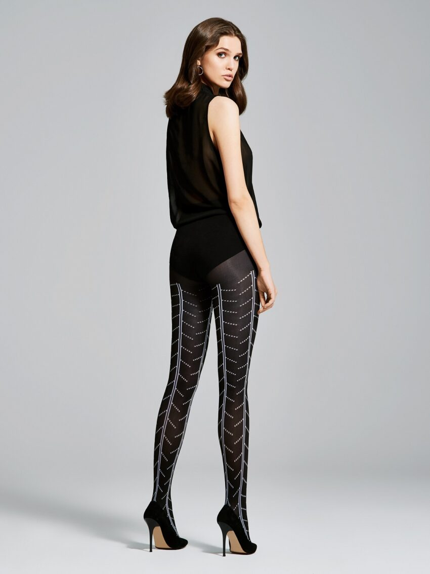 Fiore Style Patterned Tights