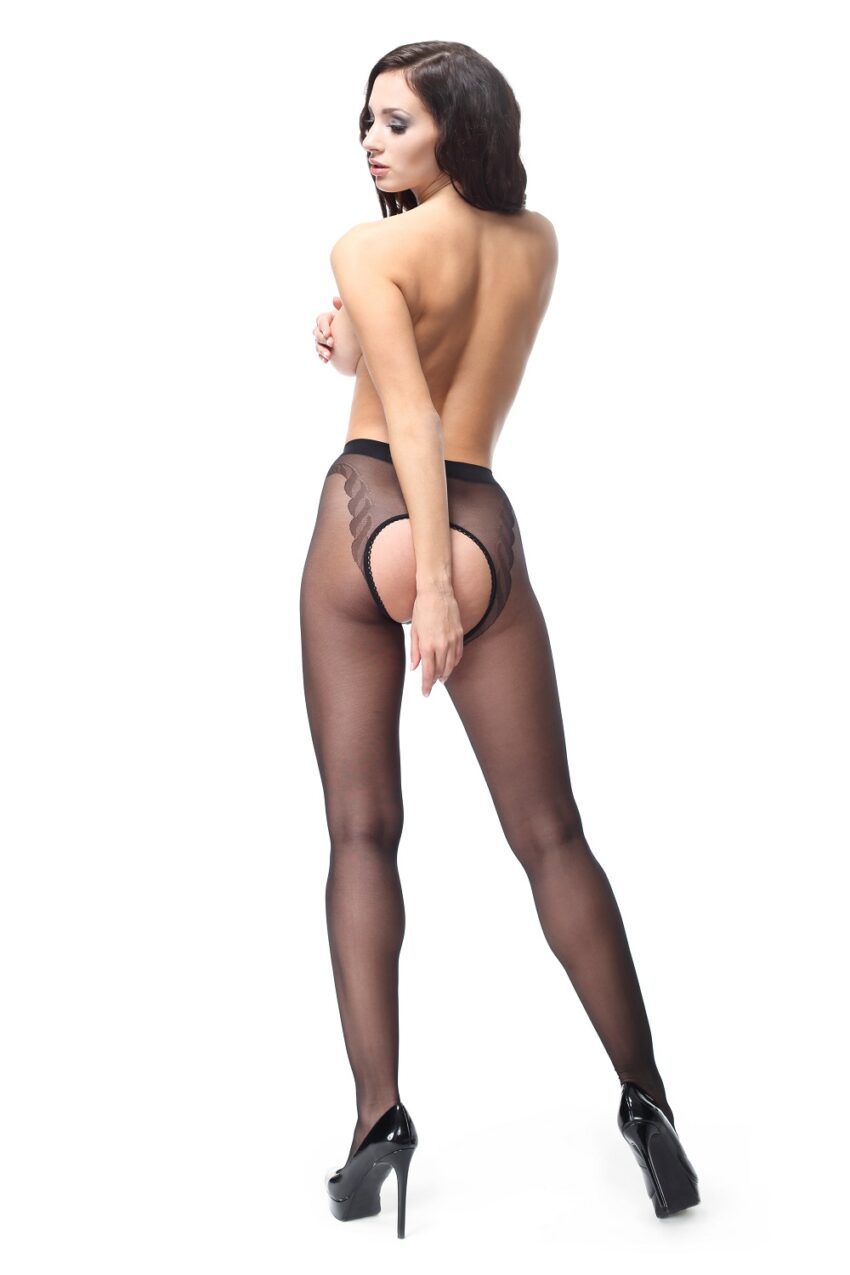 Misso P201 Black Pantyhose Large Open Crotch
