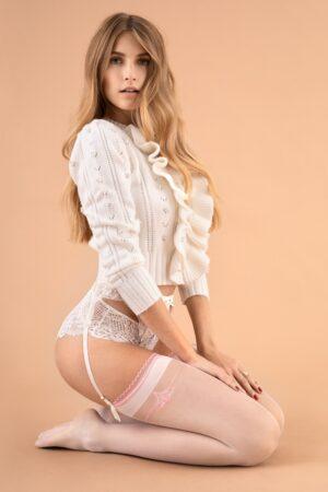 Fiore Anastasia Stockings Pink White