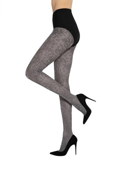 Snake Gatta opaque fancy grey tights
